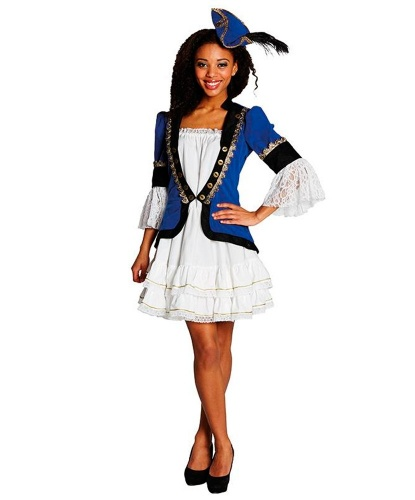Синие платье пиратки: платье и шляпка (Германия)