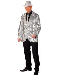 Серебряный блестящий пиджак