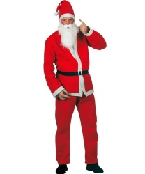 Взрослый костюм Санта-Клауса с бородой