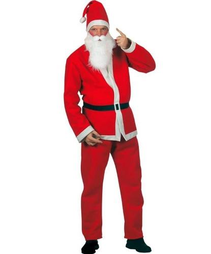 Взрослый костюм Санта-Клауса с бородой: штаны, кофта, пояс, колпак, борода (Германия)