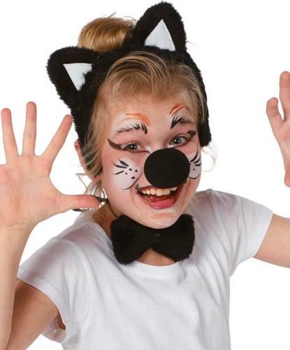 Детский набор кошки: ушки, нос, бабочка (Германия)