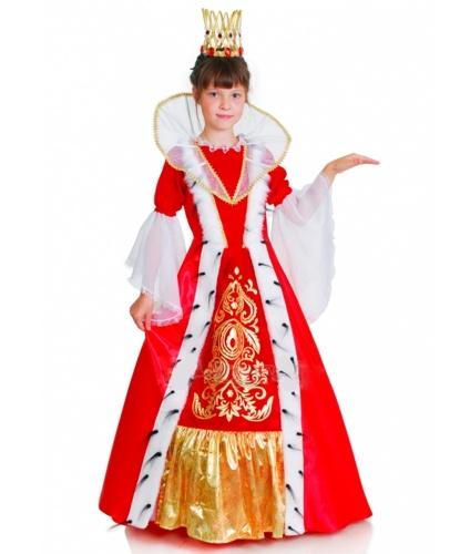 Детский костюм Королевы:  платье, корона, кринолин (Украина)