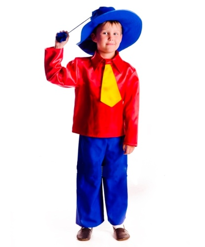 Детский костюм Незнайки: шорты, рубашка с галстуком, шляпа (Украина)