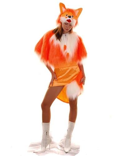 Взрослый костюм Лисы: туника, пояс с хвостом, манто, шапка-маска (Украина)