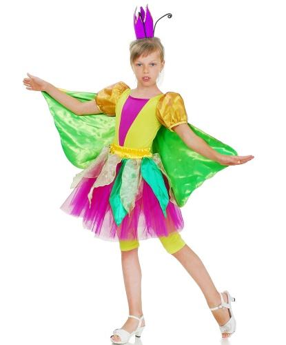 Костюм королевы бабочек: комбинезон с крыльями, юбка-пачка, корона (Украина)