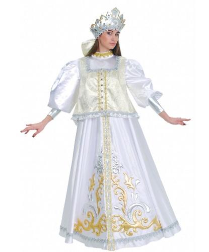 Женский костюм Зимы боярский: платье, душегрейка, кокошник (Украина)
