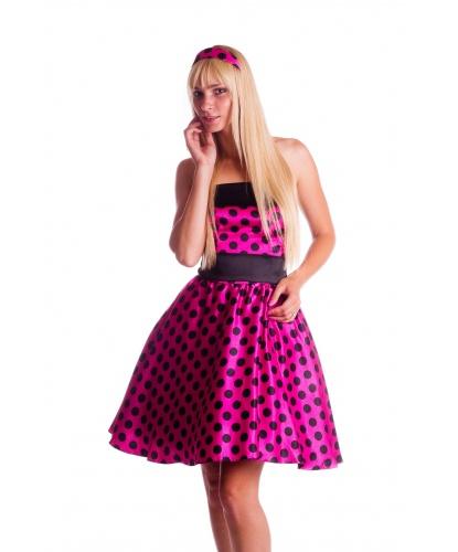 Розовое платье стиляги: платье, ободок (Германия)