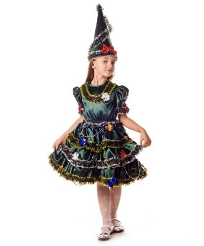 Костюм елочки: головной убор, платье (Россия)