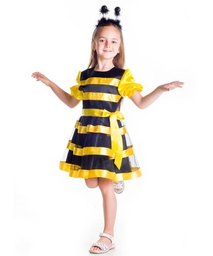 Детский костюм пчелки: платье, рожки на ободе (Украина)
