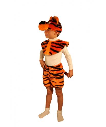 Костюм тигренка на ребенка: головной убор, воротник, шорты (Россия)