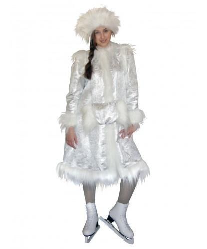 Карнавальный костюм Снегурочка: шубка, шапочка, муфта (Россия)