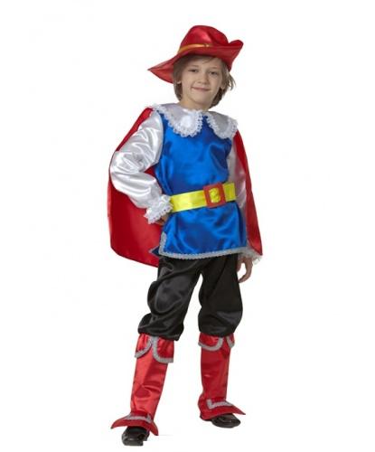 Детский костюм Кот в сапогах: камзол с накидкой, брюки с сапогами, пояс,  шляпа (Россия)