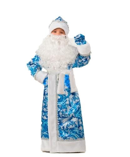 Костюм Деда Мороза: шуба, шапка, варежки, пояс, борода, мешок (Россия)