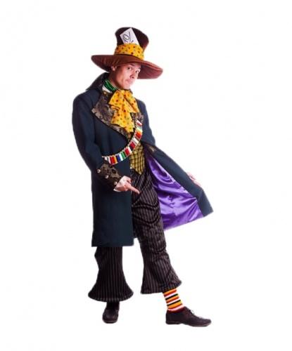 Костюм Безумного Шляпника: камзол, жилет, брюки, жабо, гетры, шляпа, перевязь (Украина)