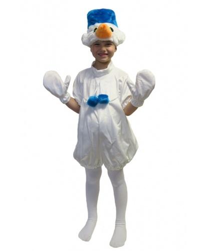 Детский костюм Снеговика: комбинезон, шапочка, варежки (Россия)