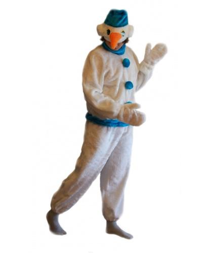 Взрослый костюм Снеговика: комбинезон, шапка, варежки (Россия)