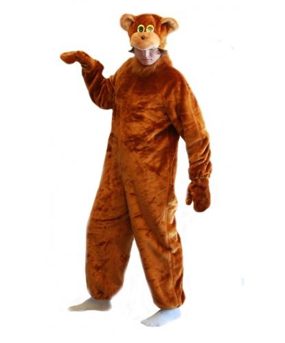 Костюм бурого медведя: комбинезон, шапка, варежки (Россия)