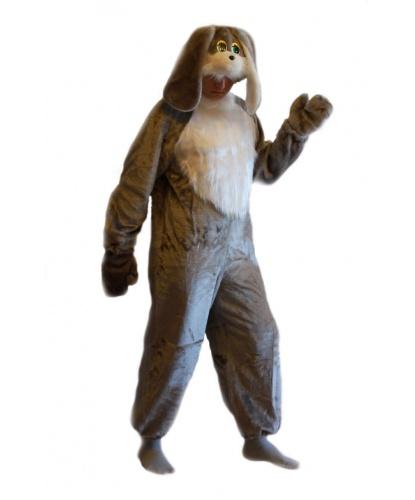 Костюм серого зайца: комбинезон, шапка, варежки (Россия)