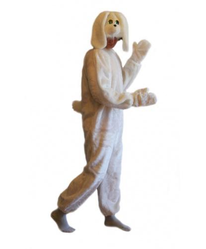 Костюм белого зайца: комбинезон, шапка, варежки (Россия)
