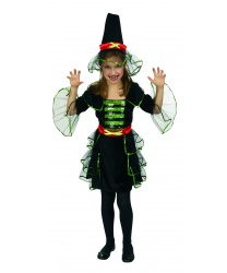Костюм ведьмочки на девочку: Платье, шляпа,ремень (Германия)
