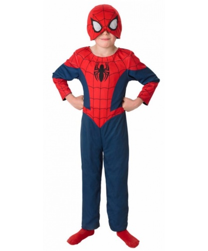 Детский костюм Человека-паука (двухсторонний): комбинезон, полумаска (Германия)