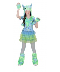 Детский костюм космического монстра зелено-голубой