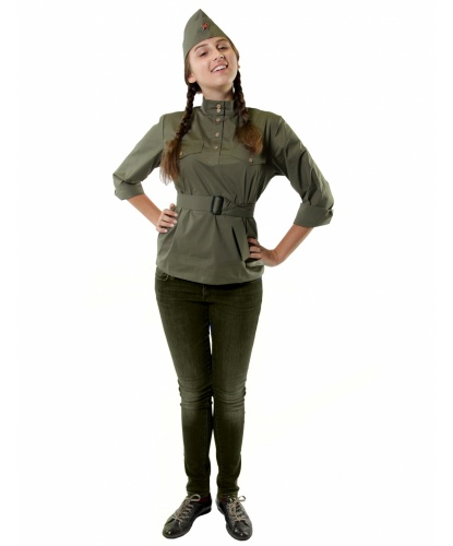 Женская гимнастерка: гимнастерка, пилотка, пояс (Россия)