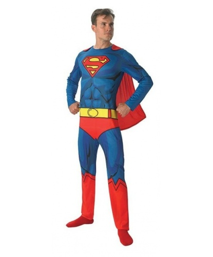 Костюм Супермена : комбинезон, накидка (Германия)