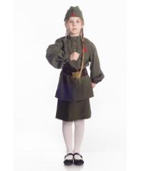 Костюм военный для девочки