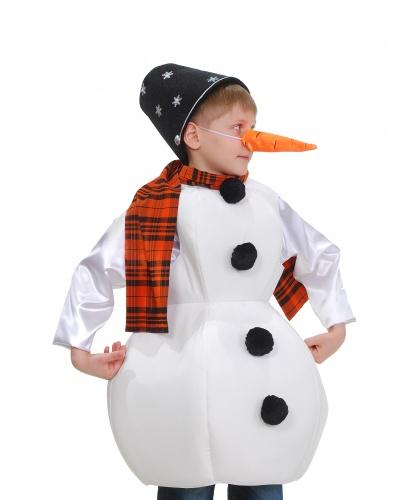 Снеговичок с морковкой: блузон , безрукавка, головной убор, шарф, морковка (Украина)