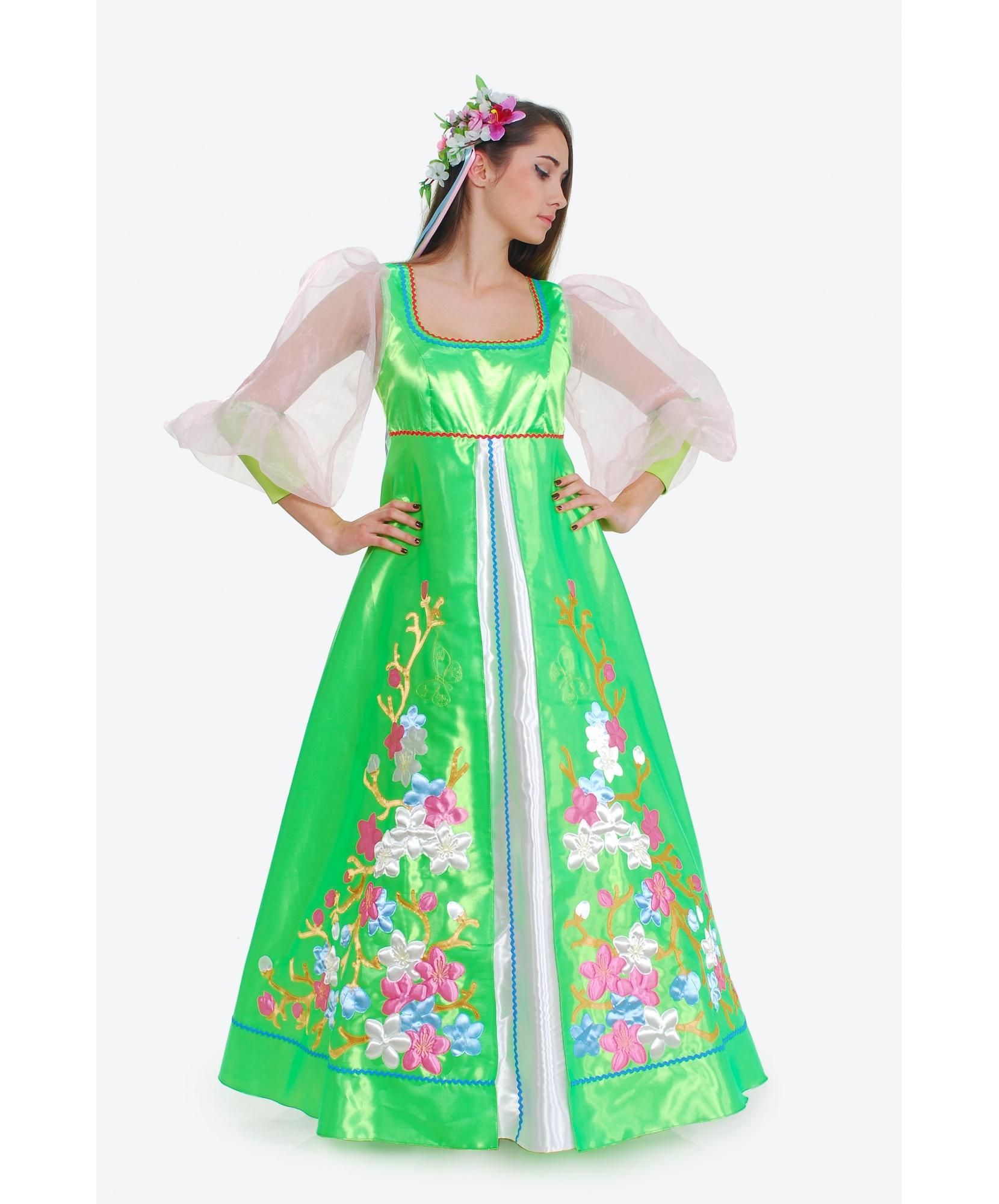 Костюм Весенняя поляна: платье, головной убор (Украина) - photo#31