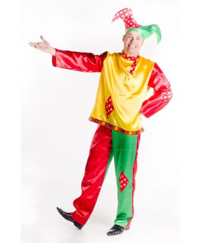 Взрослый костюм Скомороха: рубаха, брюки, головной убор (Украина)