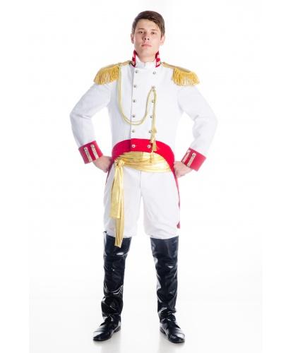 Костюм Андрея Болконского : китель с погонами, брюки, имитация обуви, кушак, шейный платок. (Украина)