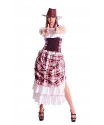 Костюм ковбойши Пегги: юбка, блуза, шляпа (Украина)