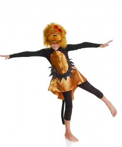 Костюм Обезьянки для девочки: платье, бриджи, шапка-маска с мордочкой обезьяны (Украина)