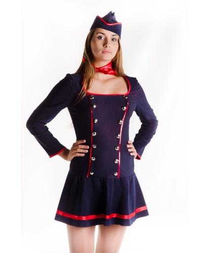 Костюм стюардессы : платье, пилотка, шейный платок (Украина)