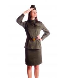 Костюм военный женский