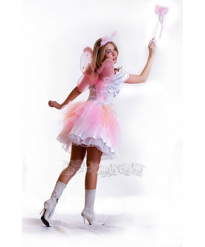 Костюм Феи:  блуза, юбка, крылья, рожки, палочка (Украина)