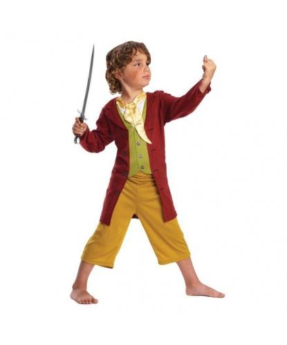 Детский костюм Бильбо Бэггинса: Кофта, брюки, меч, кольцо (Германия)