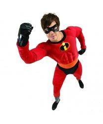 Костюм Mr. Incredible: комбинезон, маска, пояс, перчатки (Германия)