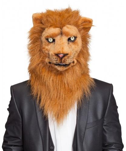 Реалистичная маска льва, пластик, искуственный мех (Германия)