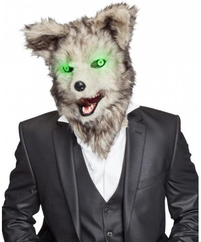 Реалистичная маска волка, пластик, искуственный мех (Германия)