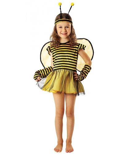 Костюм Пчелки для девочки: платье, повязка на голову, нарукавники (Польша)