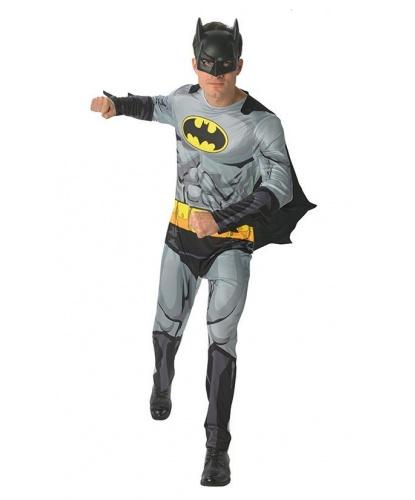 Костюм Бэтмена (Batman): комбинезон, пластиковая полумаска, накидка (Германия)