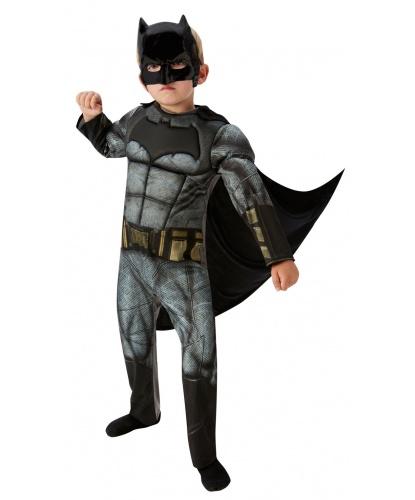 Костюм Бэтмена (Batman) Deluxe: комбинезон, пластиковая полумаска, накидка (Германия)