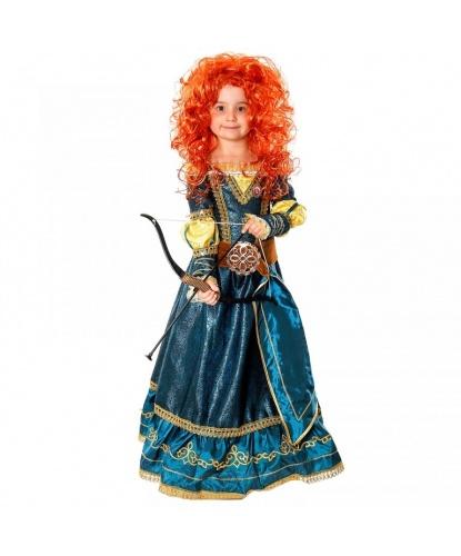 Костюм Принцесса Мерида: Платье, парик, брошь, лук и стрелы (Россия)