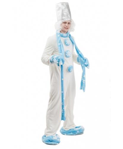 Костюм Снеговик: комбинезон, шарф, варежки, тапки, головной убор, парик, нос (Россия)