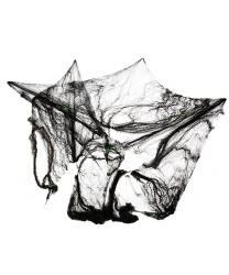 Черная паутина с пауками, 8 м2