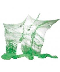 Искусственная зеленая паутина (60 гр.)