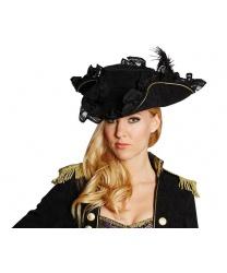 Женская пиратская шляпа украшенная кружевом